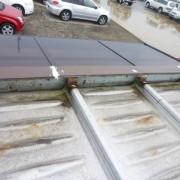 プレハブコンテナ事務所 雨漏り修理、折板屋根工事 富山店