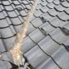 屋根瓦、谷銅板の穴からの雨漏り 金沢東店