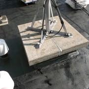 設備架台の防水納め 上尾店